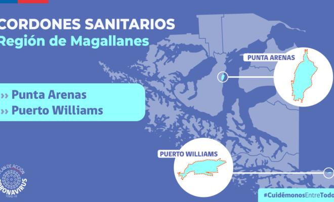Cordones sanitarios Magallanes al 12 de abril